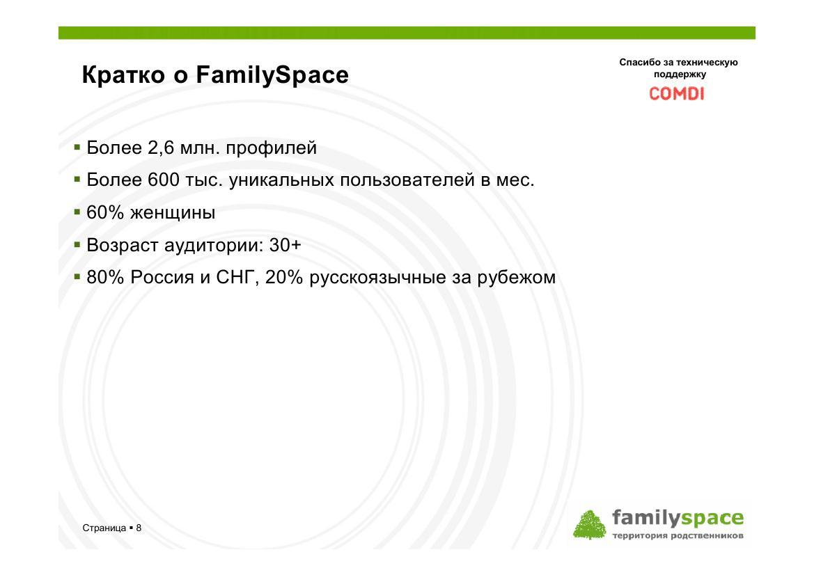 Кратко о FamilySpace