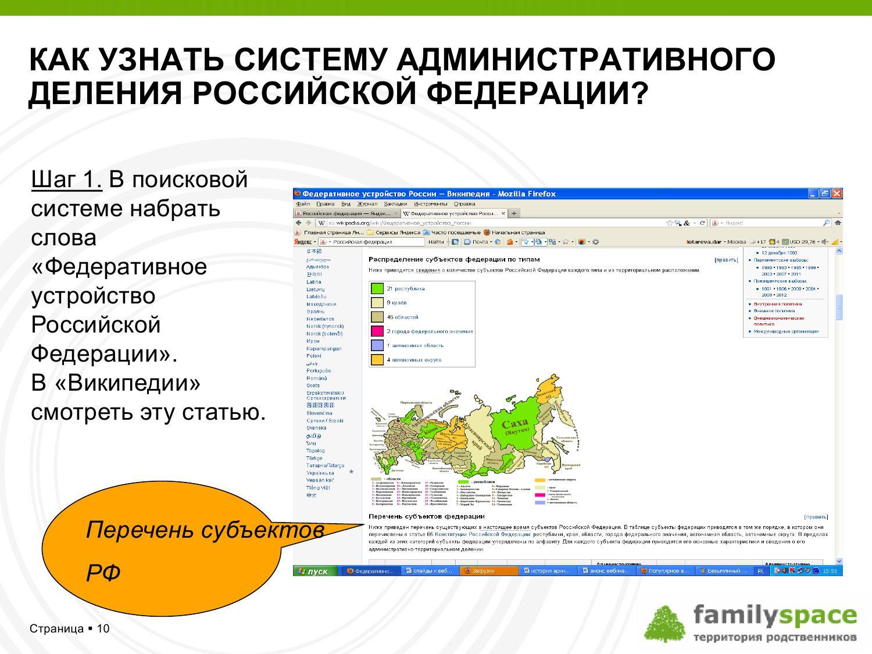 Как узнать систему административного деления России