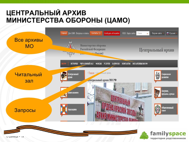 Центральный архив Министерства обороны (ЦАМО)
