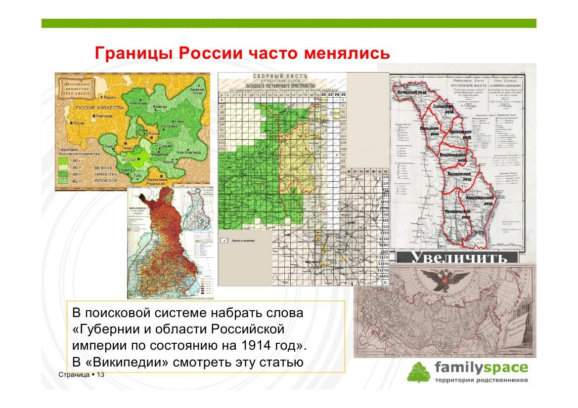 Границы России часто менялись