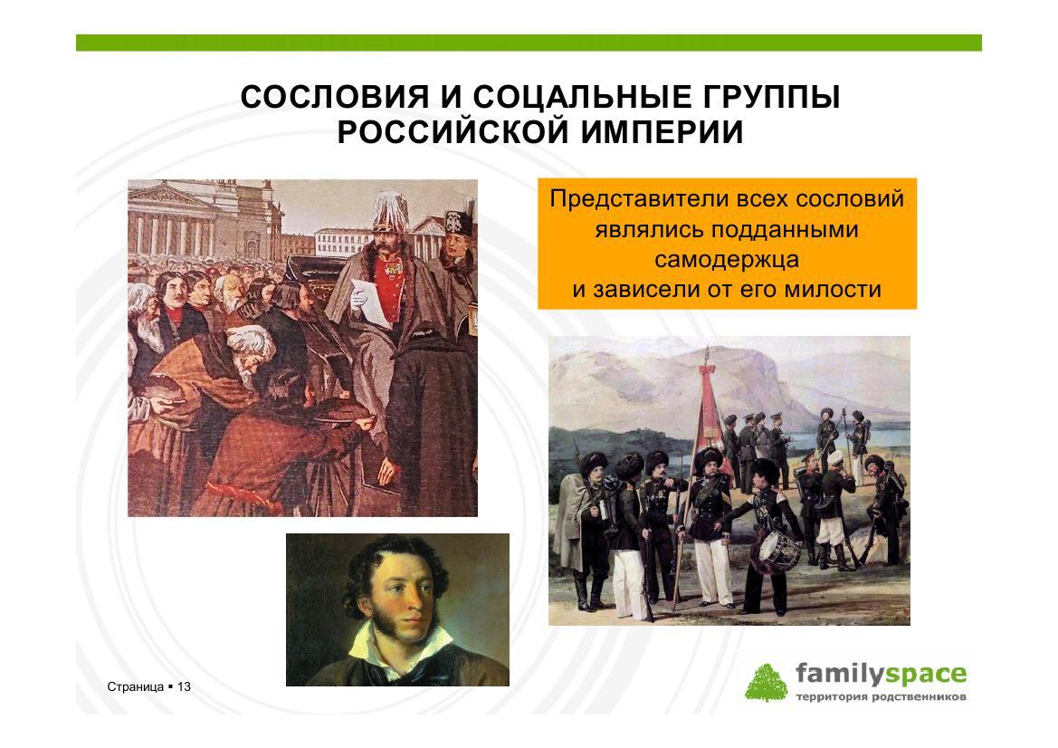 Сословия и власть в России