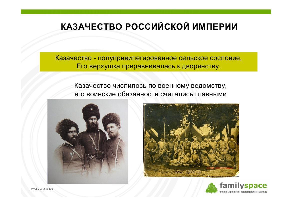 Казачество Российской империи