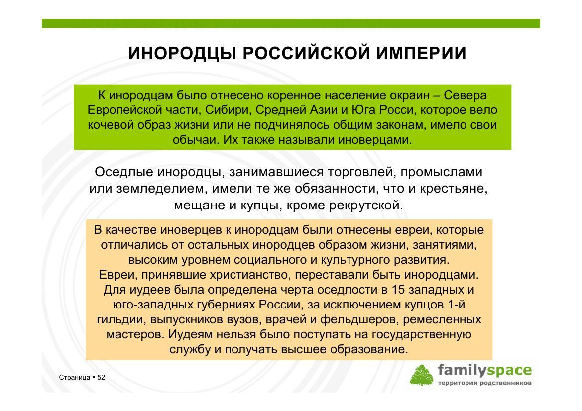 Инородцы Российской империи