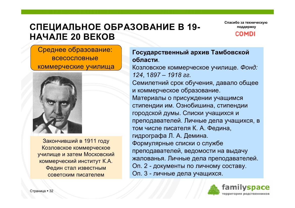 Специальное образование в 19 - начале 20 веков